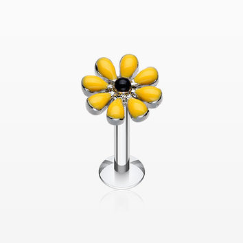 Spring Blossom Flower Top Steel Labret