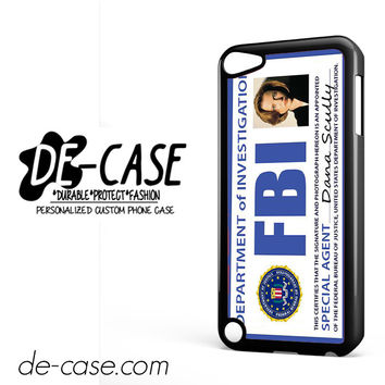 Agent Dana Scully Fbi DEAL-386 Apple Phonecase Cover For Ipod Touch 5