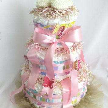 "Diaper Cakes, Newborn Baby Shower Custom Themes, 15"", Three Tiers , MADE TO ORDER"