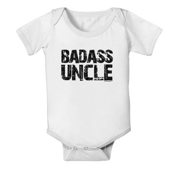 Badass Uncle Baby Romper Bodysuit by TooLoud