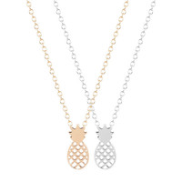 18K Gold or Silver Dainty Pineapple Pendant Necklace