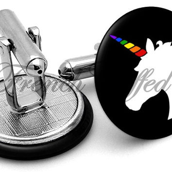 Unicorn Rainbow Cufflinks