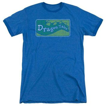 ac NOOW2 Dragon Tales - Logo Distressed Adult Heather