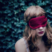 LIMITED, SIGNED - Wanting only to dream 15x15cm glossy photo print - insomnia, sleep mask, crimson, sleepless, fpoe