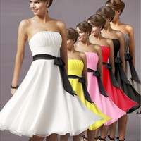 Europe Boob Tube Top High Waist Costumes Party Bride And Bridesmaid Dresses = 1696957444