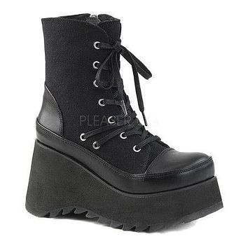 Scene 50 Lace-Up Platform Ankle Boot