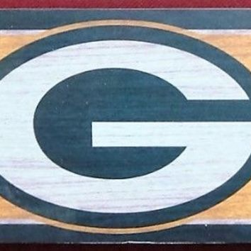 """GREEN BAY PACKERS GENERAL SEATING WOOD SIGN 6""""x36"""" NEW WINCRAFT"""