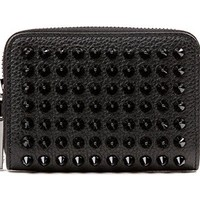 Wiberlux Christian Louboutin Women's Studded Zippered Wallet