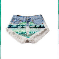 Dreamy Tribal High Waist Shorts