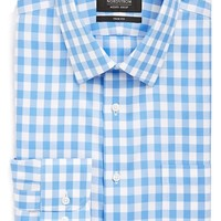 Nordstrom Smartcare Trim Fit Check Dress Shirt,