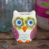 Owl  Gifts:  Save  Wisely  Owl  Bank  |  Natural  Life