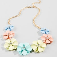 Bree Floral Statement Necklace
