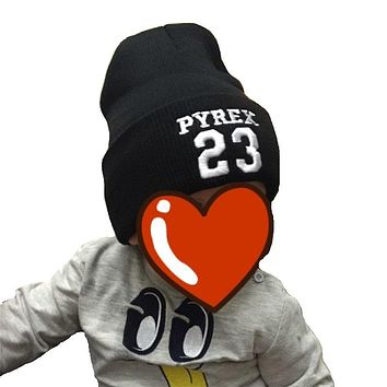 Fashion 23 Letter Knit Baby Hat Children Hats Kids Beanies Accessories Cotton Toddler Boys Girls Winter Hedging Cap