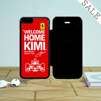Kimi Raikkonen Welcome Home Ferrari iPhone 5 Flip Case