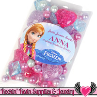 DISNEY FROZEN Princess Anna Acrylic Beads Licensed