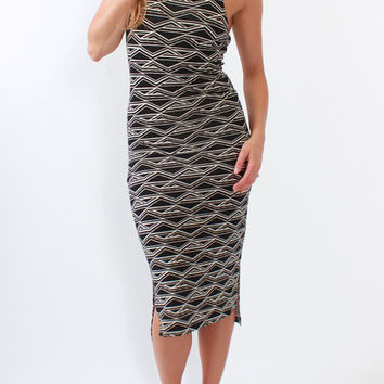 Tart Collections, Amy Dress in Tribal Diamond Print