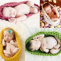 Newborn Photography Prop Eggs Handmade Infant Baby Knit Costume Crochet Hat Baby Accessories Sleeping Bag 0-3 month = 1958041412