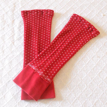 Red Polka Dot Baby Leg Warmers Girl, Toddler Leg Warmers, Red Girl Leggings, Girl Boot Socks, Footless Sock, Baby Boot Cuff, Ankle Warmer