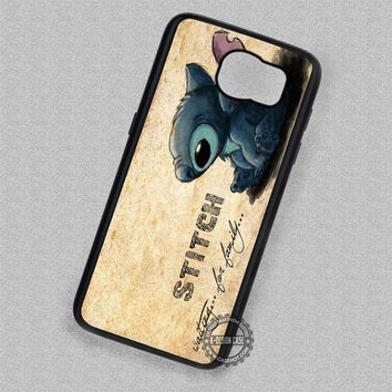 Quotes Ohana Stitch Lilo - Samsung Galaxy S7 S6 S5 Note 7 Cases & Covers