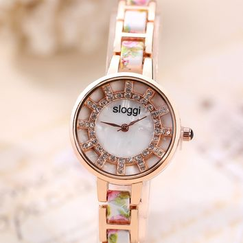 Watch Dial Floral Quartz Watch [11203431943]