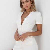 Buy Our Drew Playsuit in White Online Today! - Tiger Mist