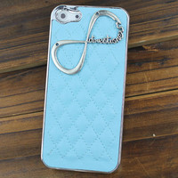 "Light Green Hard Case Cover With One Direction ""Directioner"" Infinity for Apple iPhone5 Case, iPhone 5 Cover,iPhone 5 Case, iPhone 5g"