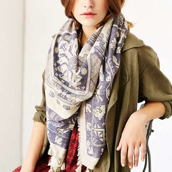 Ikat Tassel Blanket Scarf - Urban Outfitters