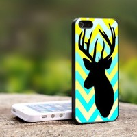 Chevron Browning Deer - For iPhone 5 Black Case Cover