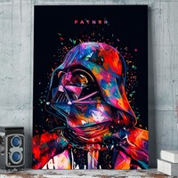1 panel canvas art wall art Star Wars Father Darth Vader poster and print