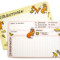 Fox Recipe Cards (Set of 10)