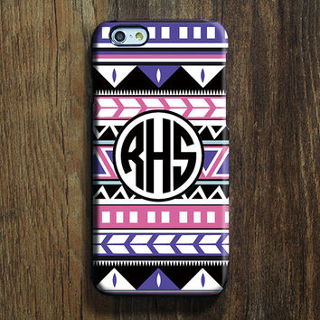 Ethnic Tribal Monogram iPhone 6s Case iPhone 6 plus Case Custom Initials iPhone 5S Case iPhone 5C Case iPhone 4S/4 Case Galaxy S6 Case 100