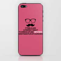 22 - Taylor Swift Lyric - Pink Version iPhone & iPod Skin by Leigh / losinghimwasblue | Society6