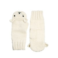 People Tree | People Tree Cream Polar Bear Mittens at ASOS