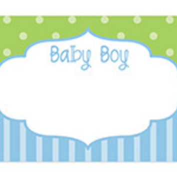 Baby Boy Frame Blank Note Card
