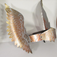 Leather Valkyrie Crown in Metallic Copper, Gold, Silver, Perfect for Theater, LARPing and more!