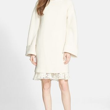 Women's See by Chloe Bell Sleeve Crochet Wool Dress