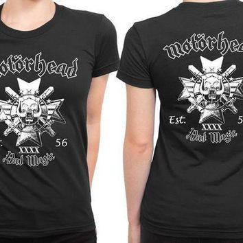 Motorhead Bad Magic Est 2 Sided Womens T Shirt
