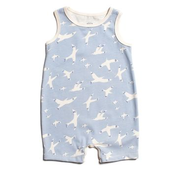 Sky Birds Tank Romper by Winter Water Factory