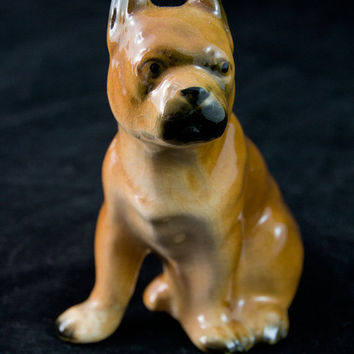 Bulldog Bully Dog Figurine Mid Century Japan Collectible