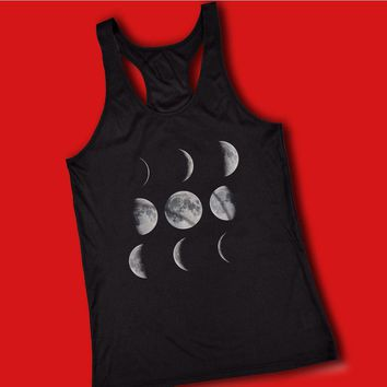 Moon Art Moon Phases Solar System Women'S Tank Top