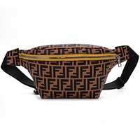Fendi Fashion New Shopping Leisure Couple Waist Bag Shoulder Bag Brown