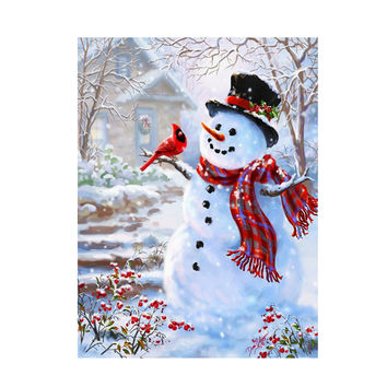 Diamond Embroidery Painting 5D DIY Kit Snowman Diamond Embroidery Christmas Sets For Mosaic Painting Home Wall Decor