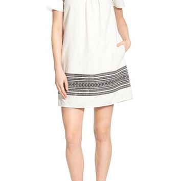 Madewell 'Cabana' Embroidered Jacquard Shift Dress   Nordstrom