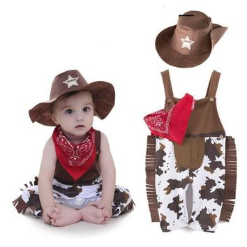 Toddler Cowboy Costume Clothing Set