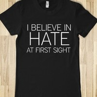 I Believe in Hate-Female Black T-Shirt