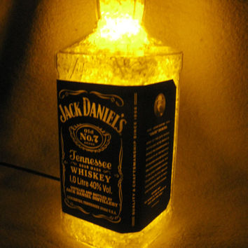 Night LED recycled bottle lamps