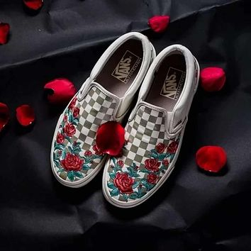 Vans Vault Slip-On Rose Canvas Shoes