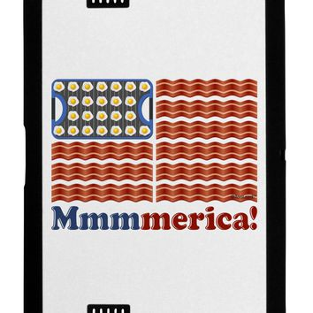 American Breakfast Flag - Bacon and Eggs - Mmmmerica Black Jazz Kindle Fire HD Cover by TooLoud