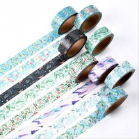 15 mm*10m kawaii Decorative adhesive tapes Paper washi tape stationery lovely school supplies Hand account diary decoration