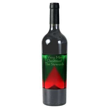 Red Green Wine Label